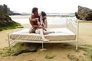 Outdoor sex encounter for tight Asian av model Photo 3