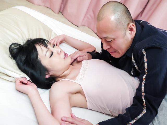 Peachy boobsNozomi Yui enjoys rough Asian anal sex Photo 1