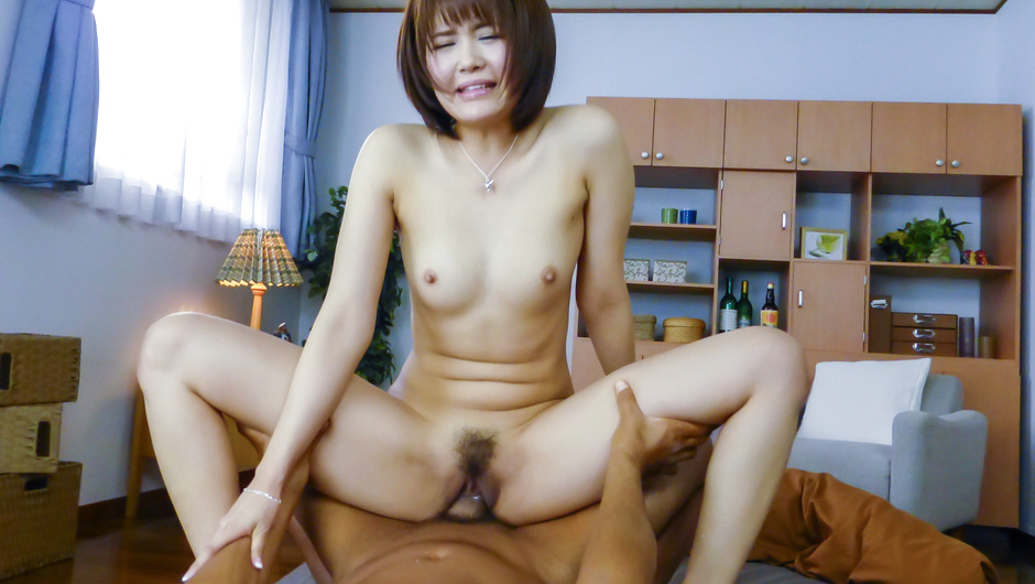 Japanese av beauty hard fucked and creamed on pussy