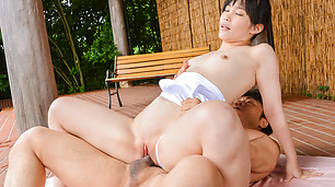 Japanese av model hard fucked in outdoor scenes