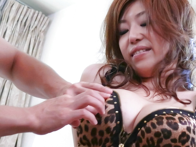 Naho Hadsuki fantastic big titties rocked by hard banging Photo 2