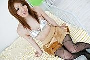 Fishnet stocking Nana Kinoshita crempie pussy Photo 1