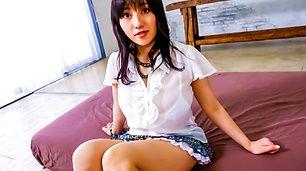 Asian hottie Azusa Nagasawa got her hairy slit shagged balls deep