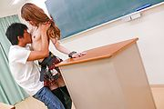 Horny slim av girl Mai Shirosaki fucked in class Photo 9