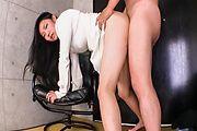 Asian av brunette fucked well in both her holes Photo 12