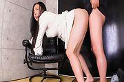 Asian av brunette fucked well in both her holes Photo 7