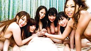 Gorgeous Curvy Girls Take Turns Sucking And Stroking Dick