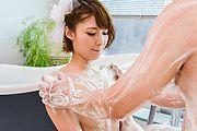 Soapy massage along sexy av beauty, Risa Mizuki Photo 10