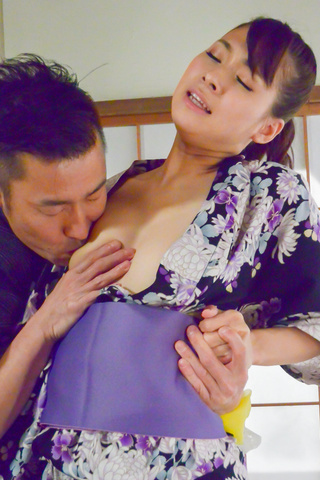 Asian blow job with steamy model, YuiOba Photo 3