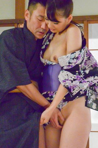 Asian blow job with steamy model, YuiOba Photo 8