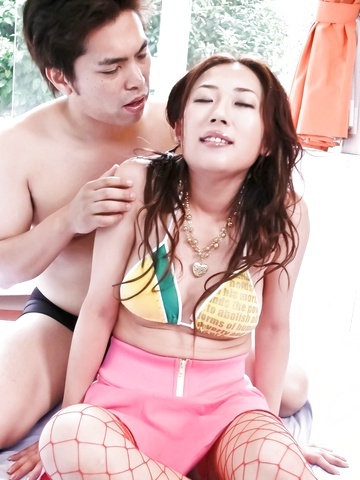 Sexy Yuu Uehara gets screwed with creampie finish Photo 2
