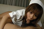 Cute Nurse Yurika Momose's Hairy Creamed Pussy Photo 12