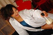 Asian nurse Asami Yoshikawa ride her patient's stiff mushroom-head Photo 3