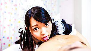 Japanese avbabe,Hikaru Morikawa, pleases her master