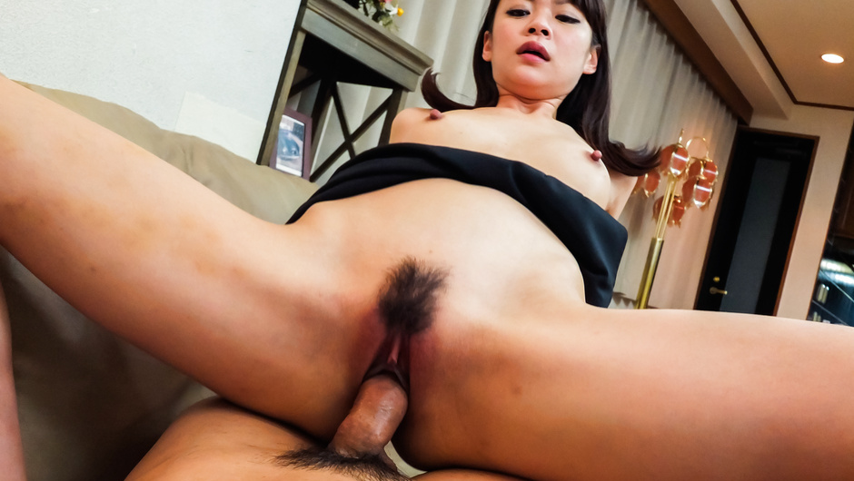 Appealing av Japanese delights with cock on the couch