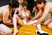 Serious threesome with sexy Japanese av modelAiri Mizusawa Photo 4