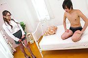 Japanese av office babe,Reon Otowa, craves for cock Photo 1