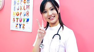 Nurse cosplay Rio Nakamura pretty girl banged