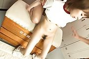 School girl Yui Misaki sucking cock and getting banged Photo 12