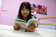 Big titted japanese av girl banged and given a facial Photo 1