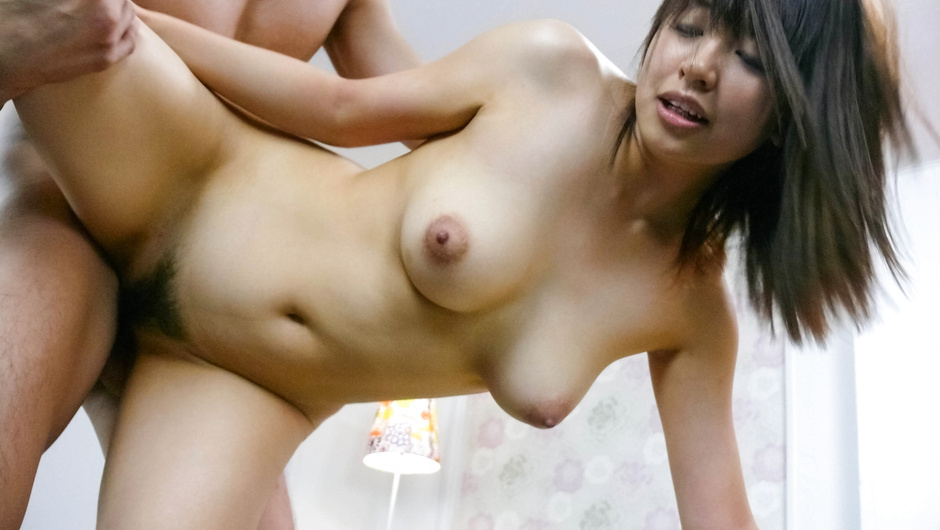 Big titted japanese av girl banged and given a facial