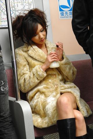 Asian Asami Yoshikawa fucked hard in a public railway Photo 1