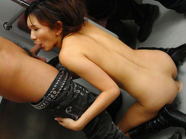 Asian Asami Yoshikawa fucked hard in a public railway Photo 6