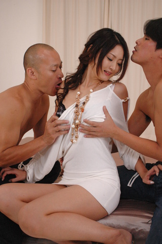 Charming Asian babe Risa dicked hard in her sex hole Photo 6