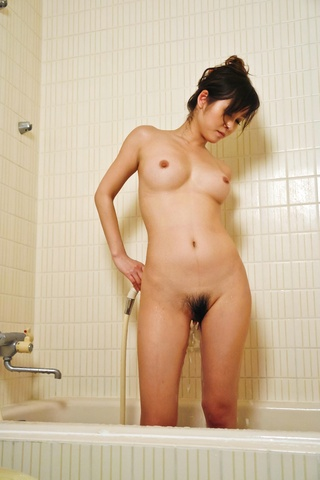 Out of the shower Moe Yoshikawa goes right to hard threesome action Photo 1