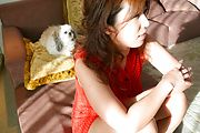 BIg beautiful breasts hottie Naho Hadsuki MMF Photo 3