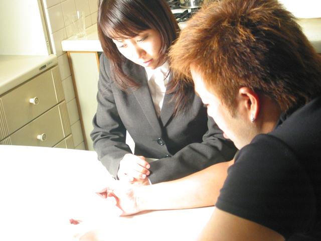 Haruka Aoi double blowjob and hard MMF sex Photo 1