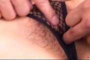 Keito Miyazawa in fishnet blasted with cum in her muff Photo 12