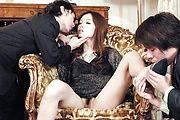 Mei Haruka pretty and petite handles two cocks Photo 2