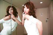 MILF Aya Sakuraba Sucking Two Dicks For Their Cum Photo 9